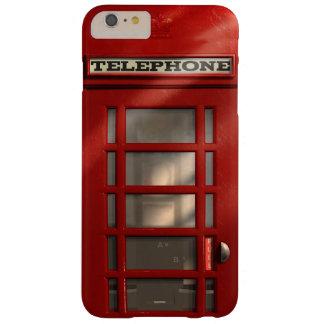 Caixa de telefone vermelha britânica do vintage capas iPhone 6 plus barely there