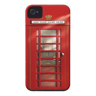 Caixa de telefone vermelha britânica personalizada capa para iPhone 4 Case-Mate