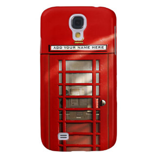 Caixa de telefone vermelha britânica personalizada galaxy s4 cover