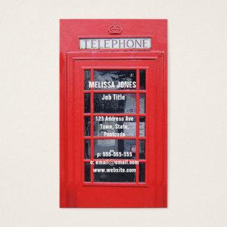 Caixa de telefone vermelha de Londres Cartão De Visitas