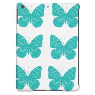 Caixa do ar do iPad das borboletas de turquesa Capa Para iPad Air