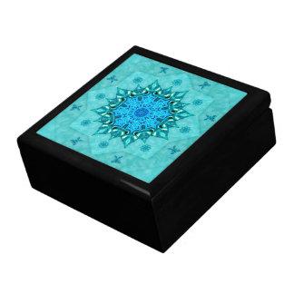 Caixa do azulejo da mandala da natureza de caixa de presente quadrada grande