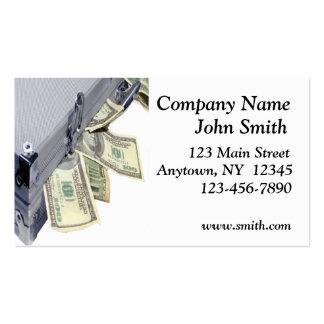 Caixa do cartão de visita do dinheiro
