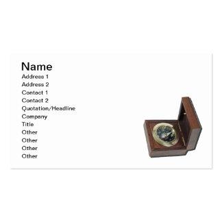 Caixa do compasso cartão de visita