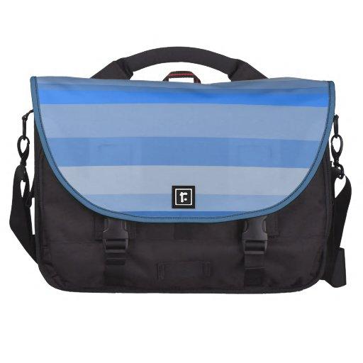 Caixa do computador das listras azuis bolsa para laptops