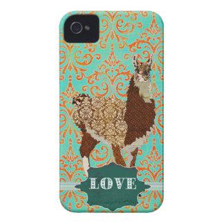 Caixa do damasco do amor do lama capinhas iPhone 4