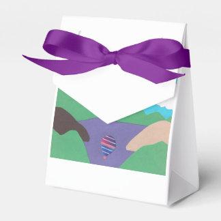 Caixa do favor com design do lago mountain