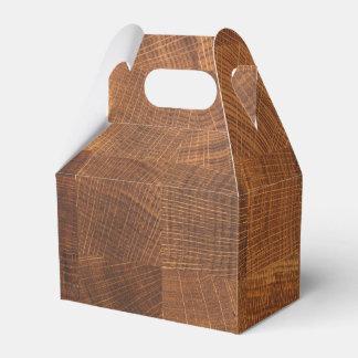 Caixa do favor com textura de madeira do teste