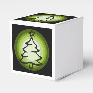 Caixa do favor da árvore de Natal do feriado