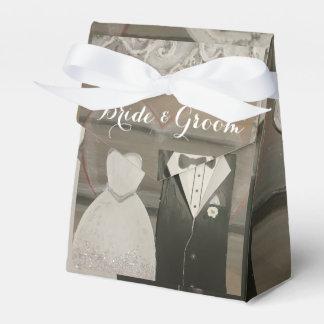Caixa do favor da barraca do casamento da noiva & caixinha