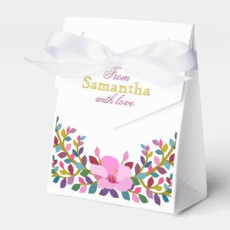 Caixa do favor da barraca do hibiscus da folha de