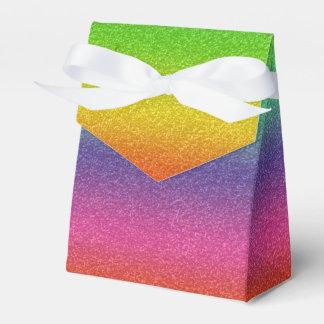 Caixa do favor da textura do brilho do arco-íris