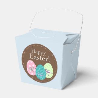 Caixa do favor de partido do felz pascoa com ovos