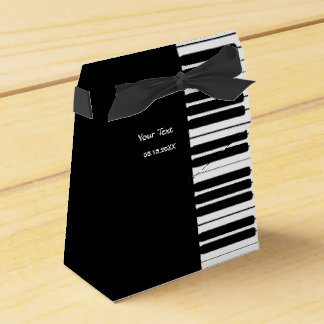 Caixa do favor de partido do teclado de piano caixinha de lembrancinhas