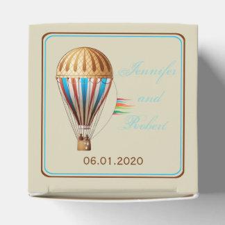 Caixa do favor do casamento do balão de ar quente caixinha de lembrancinhas