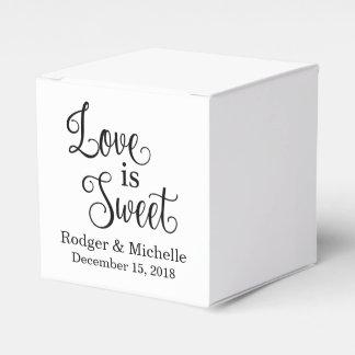 Caixa do favor do casamento - o amor é doce caixinhas de lembrancinhas para casamentos