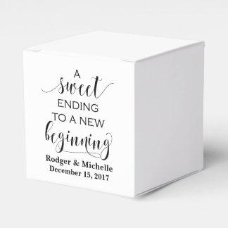 Caixa do favor do casamento - término doce ao