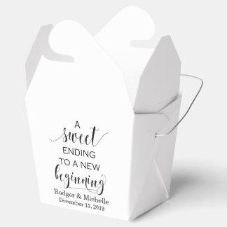 Caixa do favor do casamento - término doce ao caixinhas de lembrancinhas para casamentos