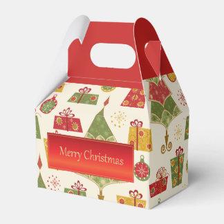 Caixa do favor do frontão do Feliz Natal do