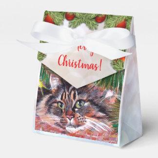 Caixa do favor do gato do Natal