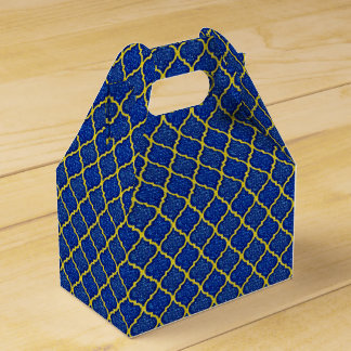Caixa do favor do MQF-Sequins-Azul-Amarelo-Frontão