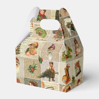 Caixa do favor do natal vintage
