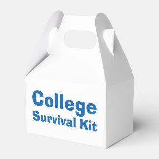 """Caixa do kit de sobrevivência da """"faculdade"""" lembrancinhas para casamento"""