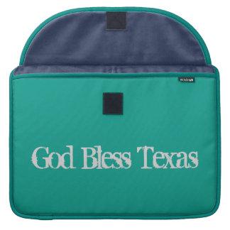 Caixa do laptop de Texas dos deus abençoe Bolsa Para MacBook