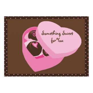 Caixa do Tag do presente dos chocolates Cartão De Visita Grande