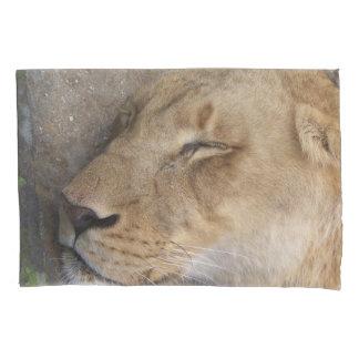 caixa do travesseiro da leoa do sono