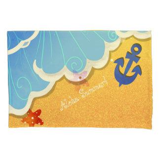 Caixa do travesseiro da praia do verão