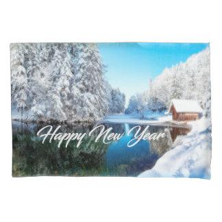 Caixa do travesseiro do feliz ano novo