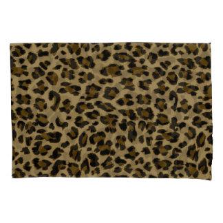 Caixa do travesseiro do impressão do leopardo