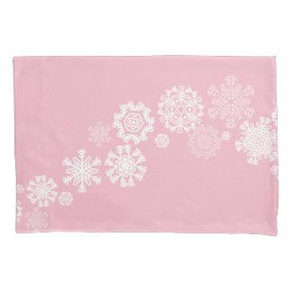 Caixa do travesseiro dos flocos de neve do feriado