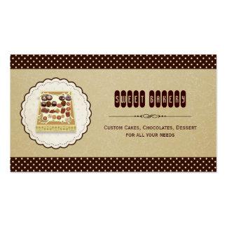 Caixa doce da padaria elegante castanho chocolate cartão de visita