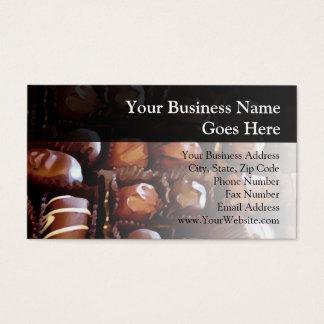 Caixa dos chocolates cartão de visitas
