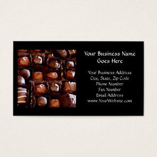 Caixa dos chocolates, doces de chocolate cartão de visitas