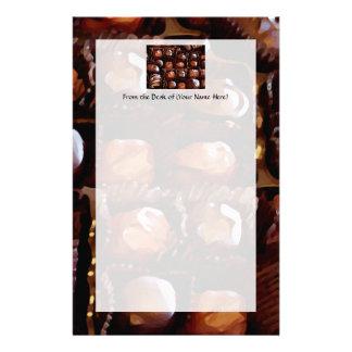Caixa dos chocolates, doces de chocolate tentadore papelaria