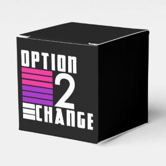 Caixa dos doces da assinatura da mudança da opção