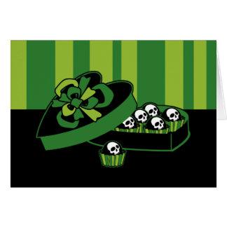 Caixa dos doces do crânio cartão comemorativo