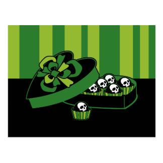Caixa dos doces do crânio cartão postal