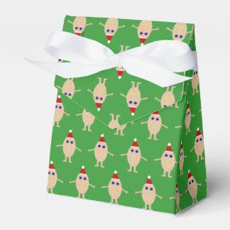 Caixa engraçada do favor do ovo do Natal
