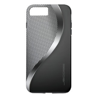 caixa escura com placa e os parafusos perfurados capa iPhone 7 plus