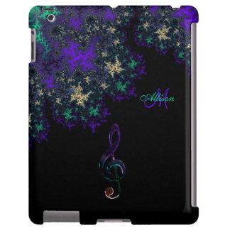 Caixa escura personalizada do iPad do Clef da Capa Para iPad