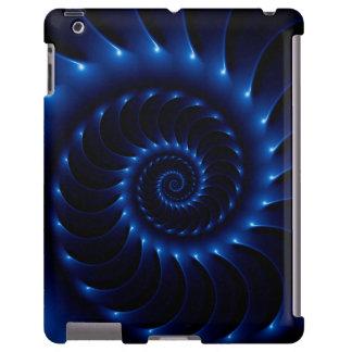 Caixa espiral azul lustrosa do iPad do Fractal Capa Para iPad