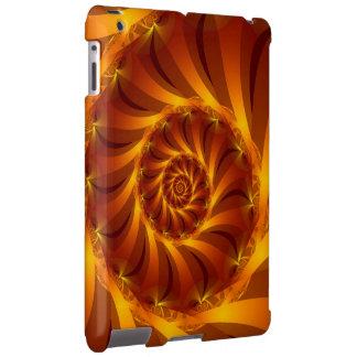 Caixa espiral dourada do iPad do Fractal Capa Para iPad