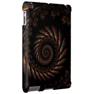 Caixa espiral preta do iPad do Fractal Capa Para iPad
