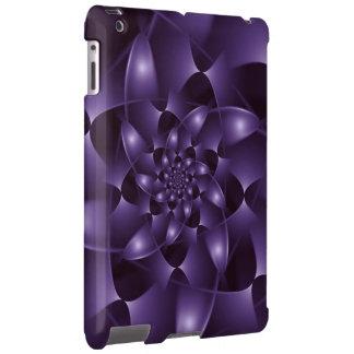Caixa espiral roxa do iPad do Fractal Capa Para iPad