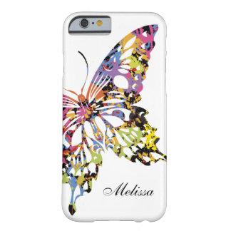 Caixa espirrada cor do iPhone 6 da borboleta Capa Barely There Para iPhone 6