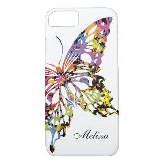 Caixa espirrada cor do iPhone 7 da borboleta Capa iPhone 8/ 7